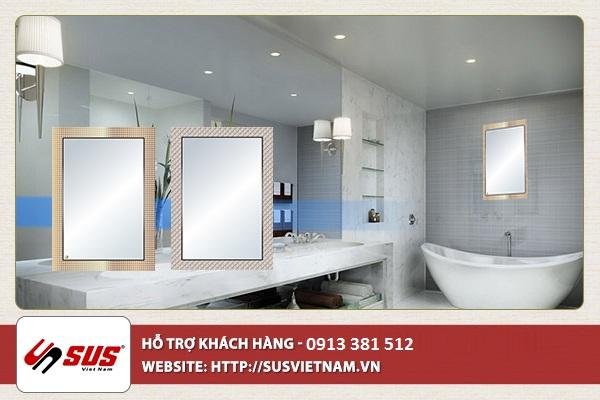 cách chọn gương cho phòng tắm