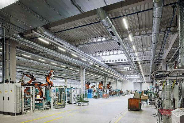 thiết bị đèn led chiếu sáng nhà xưởng, nhà máy