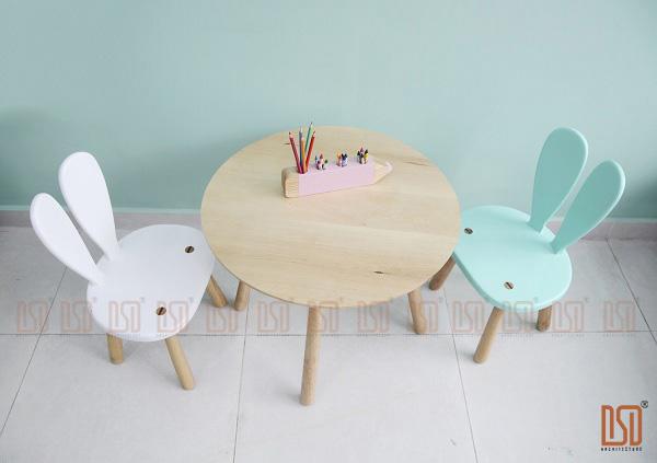 bàn ghế gỗ cho trẻ em tại Hà Nội