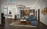 Sự hoàn hảo giữa phong cách Indochine pha hiện đại trong thiết kế Penthouse Quảng An, Tây Hồ