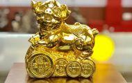 Quà tặng Tết 2019 sang trọng - ý nghĩa với tượng heo bằng đồng mạ vàng