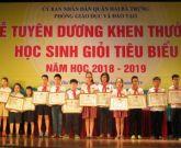 Ngành GD-ĐT quận Hai Bà Trưng khen thưởng học sinh giỏi tiêu biểu