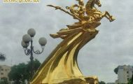 Tượng Thánh Gióng bằng đồng - vị anh hùng kiệt xuất của dân tộc Việt