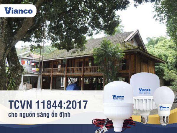 Bóng đền Vianco đạt TCVN 11844:2017