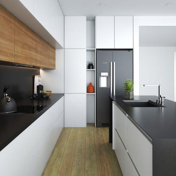 Bàn bếp đen lì đẳng cấp được chế tác bằng đá PS350