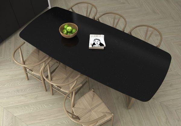 Thiết kế bàn ăn với đá PC120 đơn giản, đẳng cấp